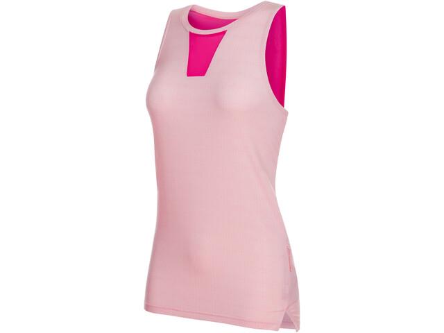 Mammut Crashiano T-shirt zippé Femme, candy melange-pink
